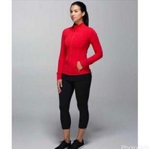 Lululemon Red Orange Define Jacket Yoga Loungewear